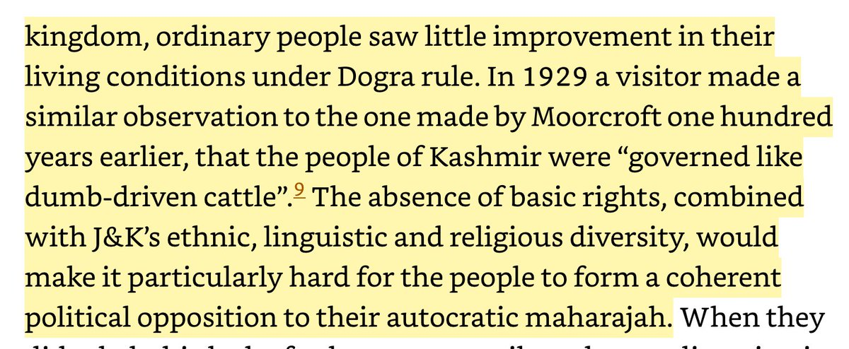 Given this 300 year history why wouldn't the Kashmiris welcome a genuine democracy as Azadi?