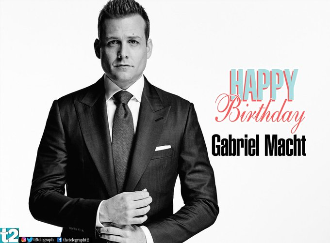 We love Harvey Specter! t2 wishes a very happy birthday to Suits hottie Gabriel Macht.