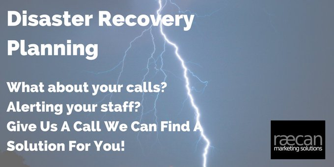 Disaster recovery is not just about IT/Data let us take your calls! #bizhour Photo