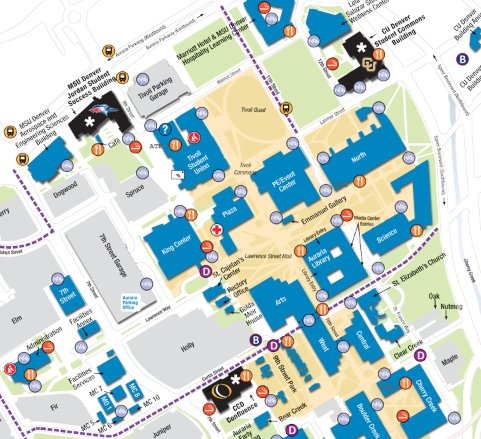 metro state university denver campus map Msu Denver On Twitter Need Help Finding Your Way Around Campus metro state university denver campus map