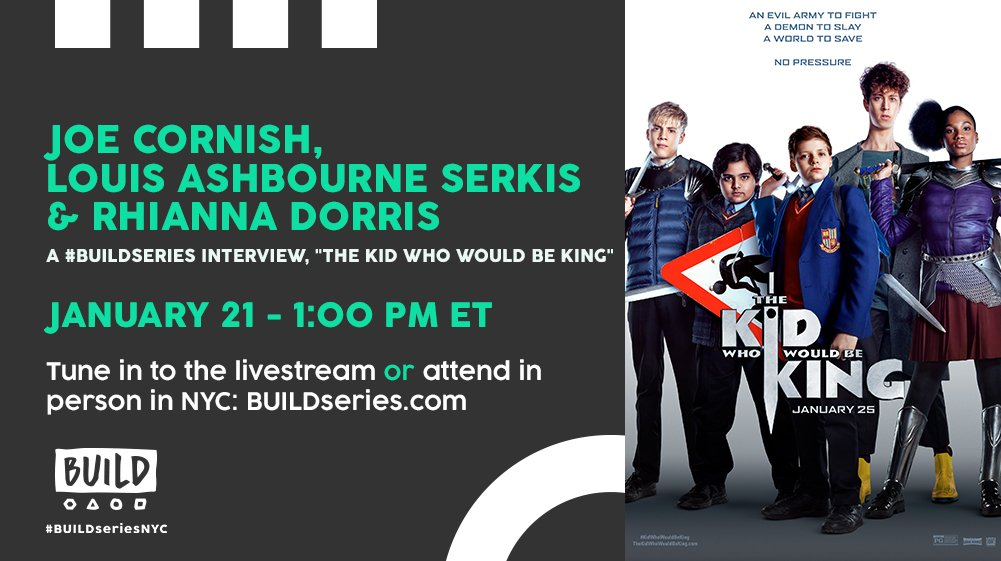 We're getting a look at The #KidWhoWouldBeKing today at 1PM ET! Watch it live: https://t.co/M8xULp80xC.
