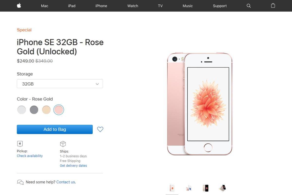アップル、iPhone SEを米国で再販していた 249ドルから https://t.co/g5WhIYQVrA