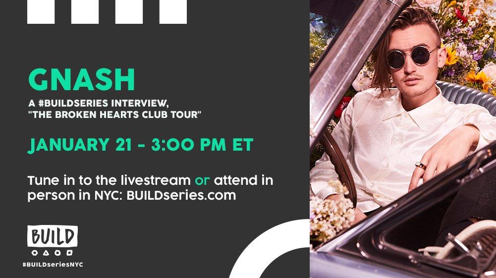 Don't miss @gnash today at 3PM ET on https://t.co/M8xULp80xC!