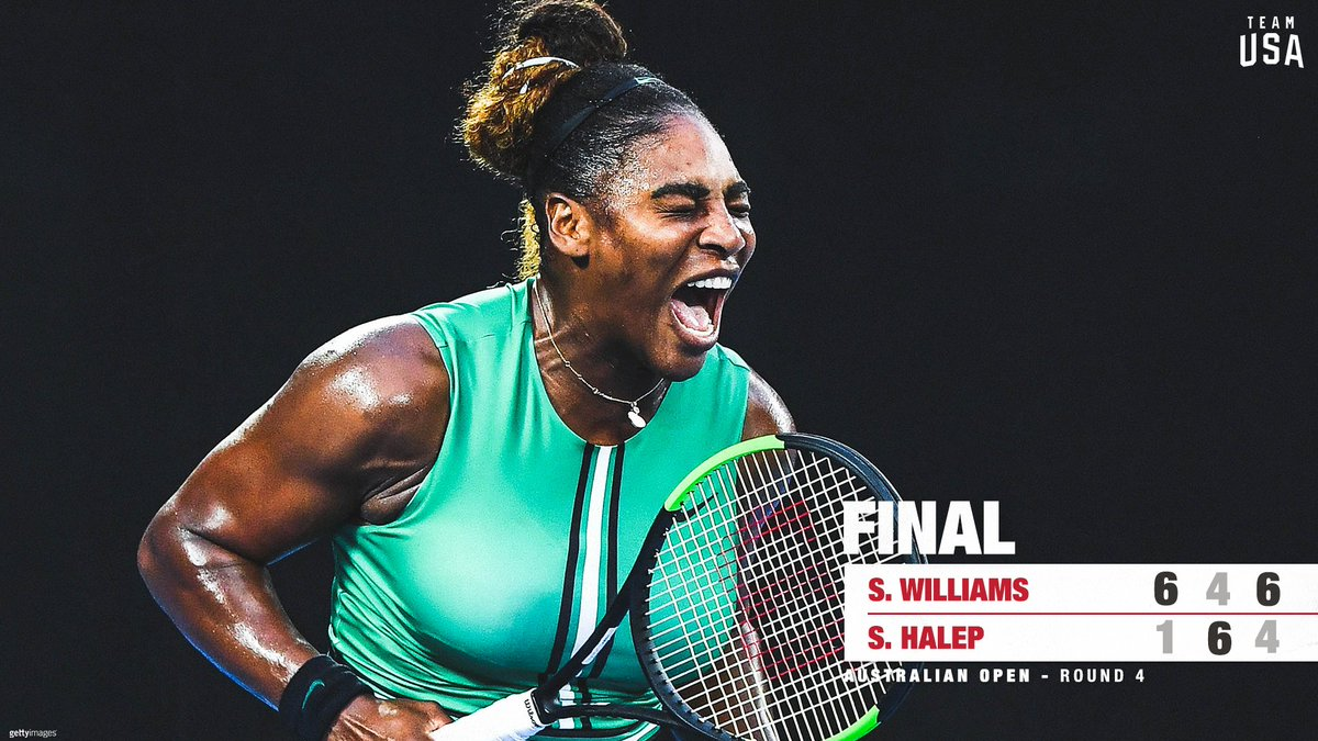UNSTOPPABLE 👑  @serenawilliams 🇺🇸 wins vs. world number one Simona Halep 🇷🇴, securing a spot to the #ausopen quarters‼