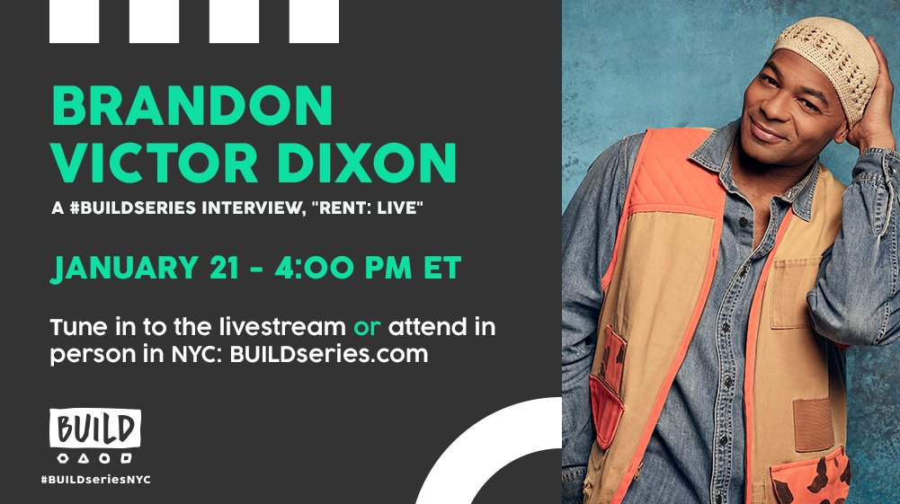 Are you ready for #RENT? @BrandonVDixon joins us live at 4PM ET to tell us all about it: https://t.co/M8xULp80xC.