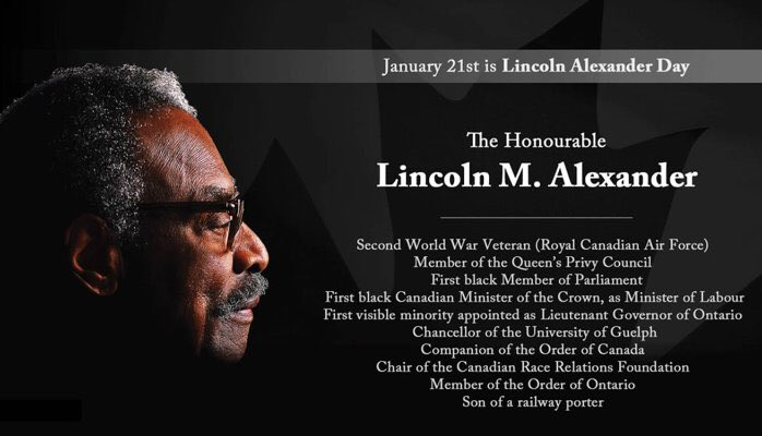 I know it's #MLKDay in the U.S.  But for us, it's Lincoln Alexander day, for all the reasons listed below, and more.  #LINC2019