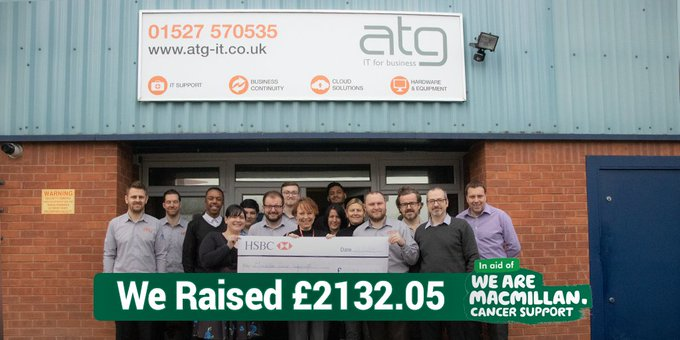 Today we had Sarah from @macmillancancer in our office today letting us know what our 2017 -18 fundraising ventures went towards. Find out what we did, how we did it and where it went in our updated blog post: #BizHour #B2Bhour Photo