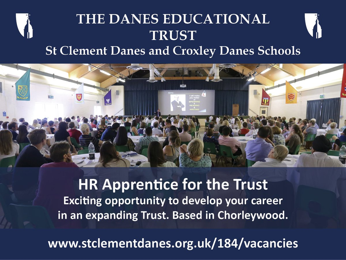 Exciting opportunity to join an established HR team as an apprentice at our expanding multi-academy trust. Based at St Clement Danes school. Closing date 28th January. Details: https://t.co/8Opj2EOUuE https://t.co/Jml4bLAnrz