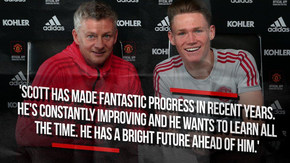 Ole on Scott's development at #MUFC 😊