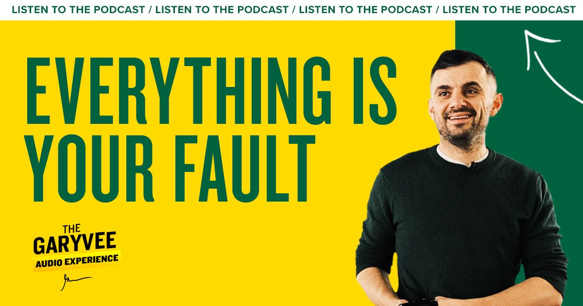 Would love for you to listen to today's episode of the podcast - Everything Is Your Fault https://t.co/EJd83oexzb