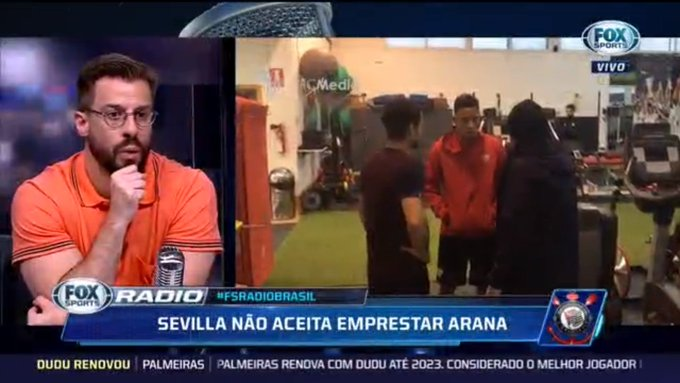 EITA! O @SevillaFC não aceita emprestar o lateral Guilherme Arana para o @Corinthians! #FSRadioBrasil Foto