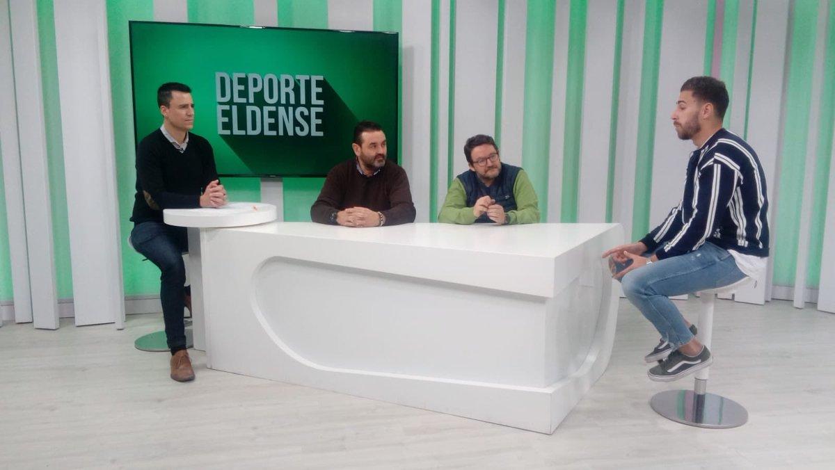 Jesus Sanchez Ricarte (@JesusRicart )  ya está en directo en el programa #DeporteEldense de Tele Elda