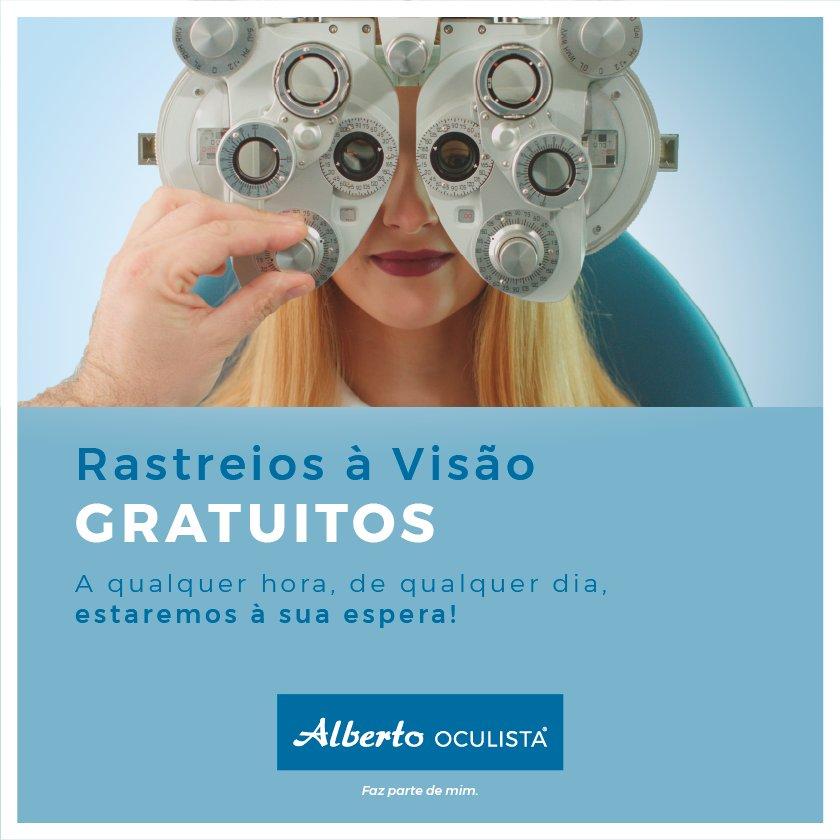 Sabias que podes realizar gratuitamente o teu rastreio visual em qualquer loja  Alberto Oculista  Aproveita cc4c8de3a7