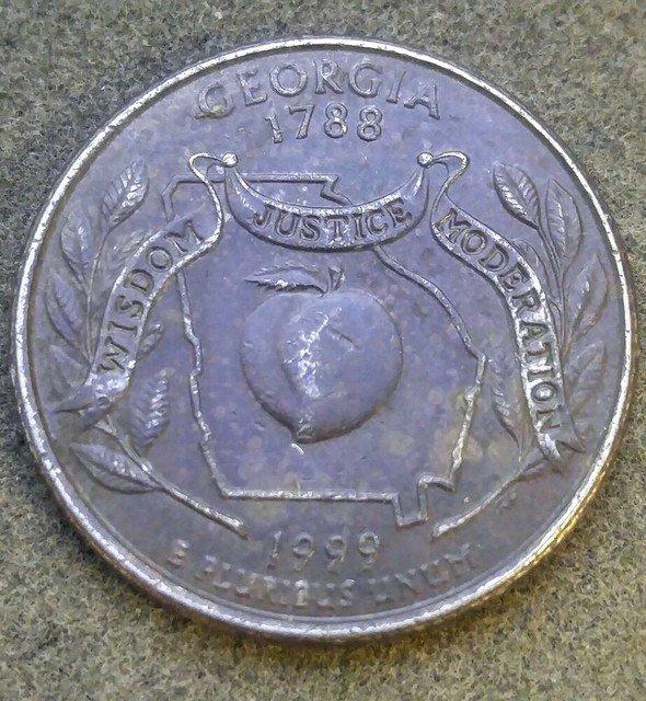 Georgia Quarter Lamination Error