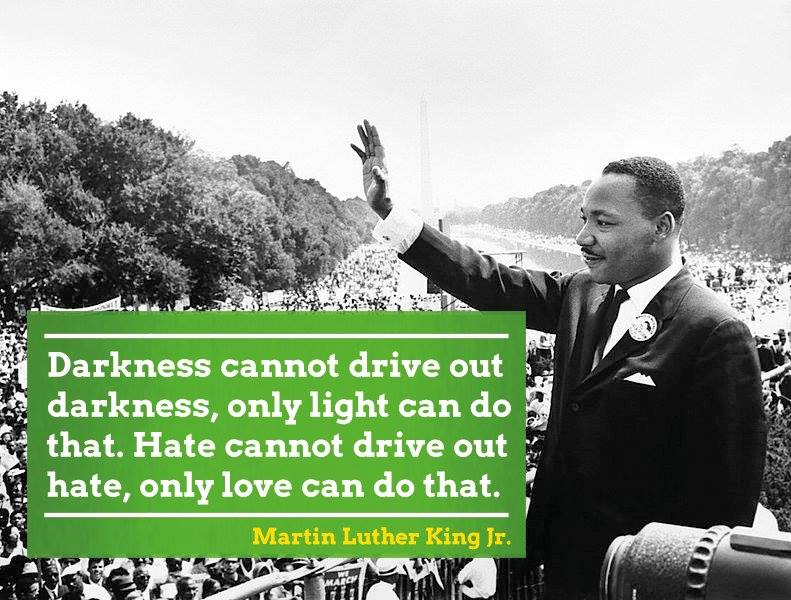 Today we celebrate the vision and legacy of Dr #MartinLutherKing Jr. #MLK 's words still echo today.   We will never give in to hate and fear! 💚 #MartinLutherKingJrDay