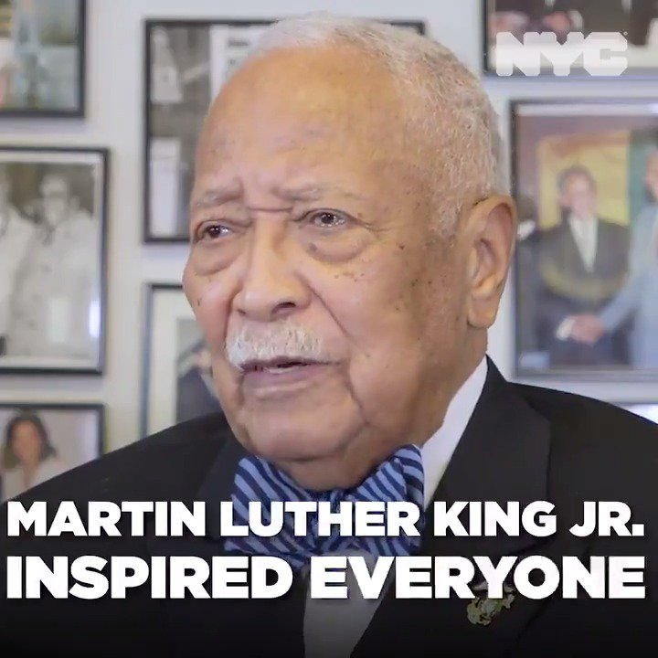 nycgov: RT @NYCMayorsOffice: A few years ago, we sat down with former Mayor David Dinkins to talk about Martin Luther King Jr.'s legacy. We may have lost both of these great leaders, but their words and their values live on in the heart of New York City.… https://t.co/JAL7pJIB5f