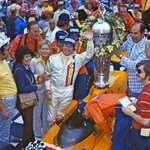 All at McLaren have Betty Rutherford's family and friends in our thoughts after she sadly passed away yesterday. Betty is pictured here with her husband Johnny after his 1974 #Indy500 McLaren win.
