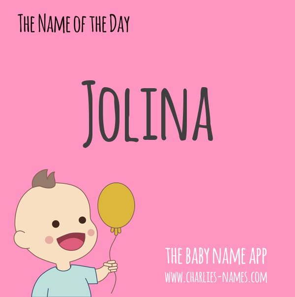 Jolina is the name of the day!