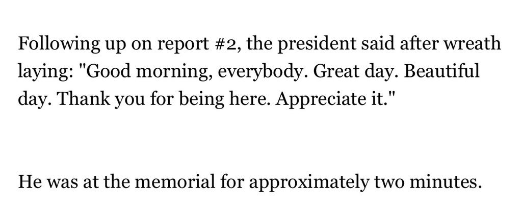 On MLK Day, President Trump visited the MLK Memorial and said nothing about MLK. His visit was two minutes, per pool: