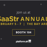 Image for the Tweet beginning: We're heading to #SaaStrAnnual next