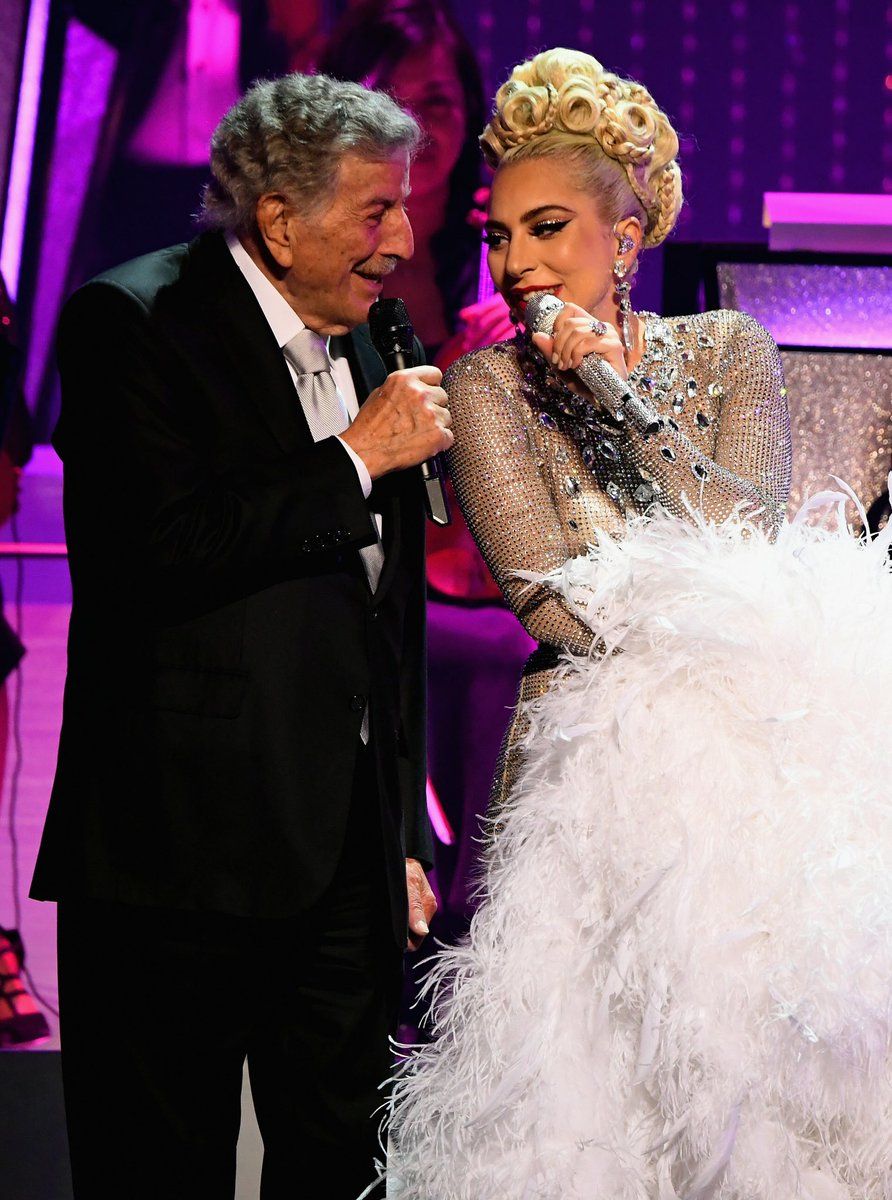 Loved singing jazz with 'Lady' in Vegas last night! She is magnificent! @ladygaga  📸: @KevinMazur & @GettyImages