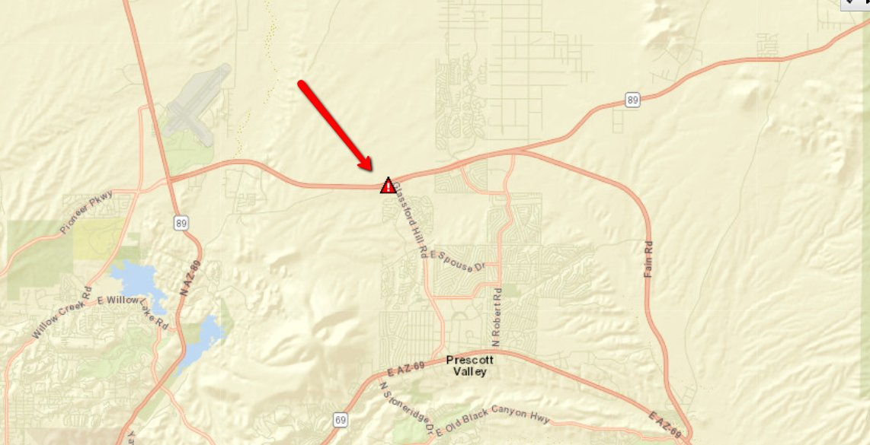 Map Of 89a Arizona.Arizona Dot On Twitter Updated Map Sr 89a Sb At Glassford Hill