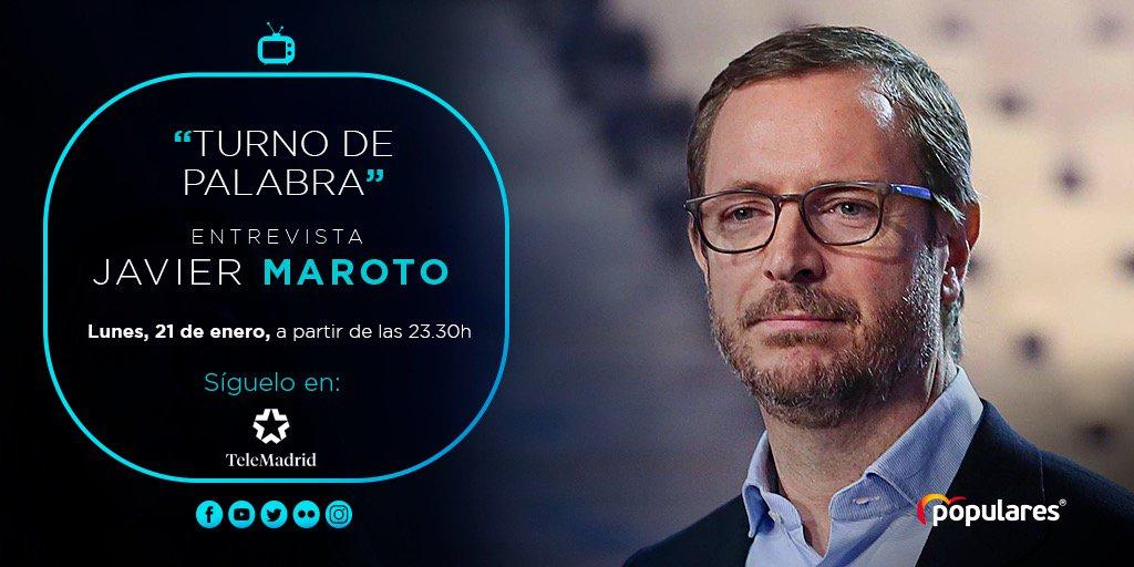 📺 Entrevista a @JavierMaroto en @TurnoPalabraTM a partir de las 23:30 h. Síguelo en directo en @telemadrid.