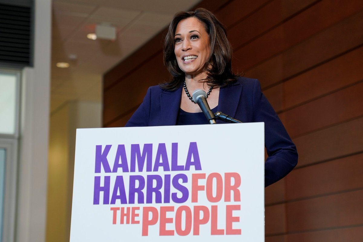 Kamala Harris penned a blog post about why she's running for president. Among her positions:  • Universal health care • Tax breaks for middle-class and working families • Eliminating for-profit prisons