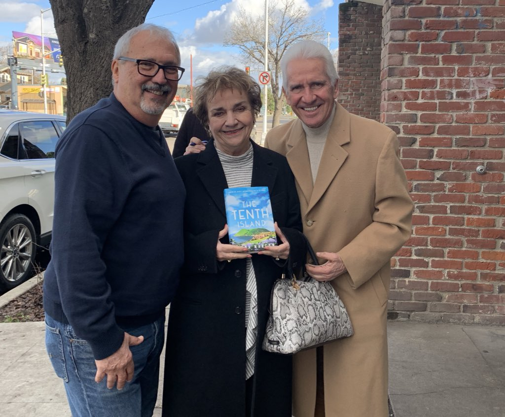 Congressman Jim Costa and his cousin Kenny got big points giving The Tenth Island to his sister Betty for her birthday. Just saying...