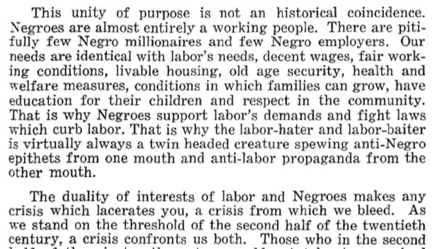 my last MLK content for today is a link to his 1961 speech to the AFL-CIO https://t.co/Okxg3aB95X