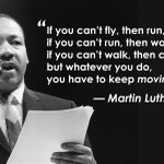 Image for the Tweet beginning: Keep moving forward...#MLKDay #MondayMotivation