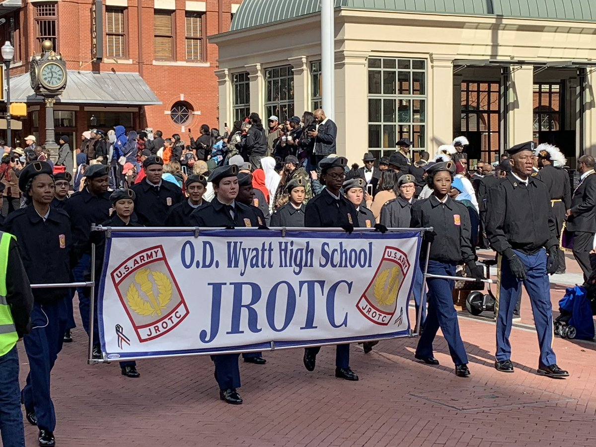 Wyatt Band, Dance and JROTC representing at the MLK parade!