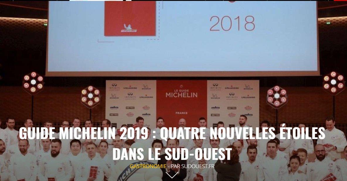 Sud Ouest On Twitter édition Du Soir Guide Michelin 2019