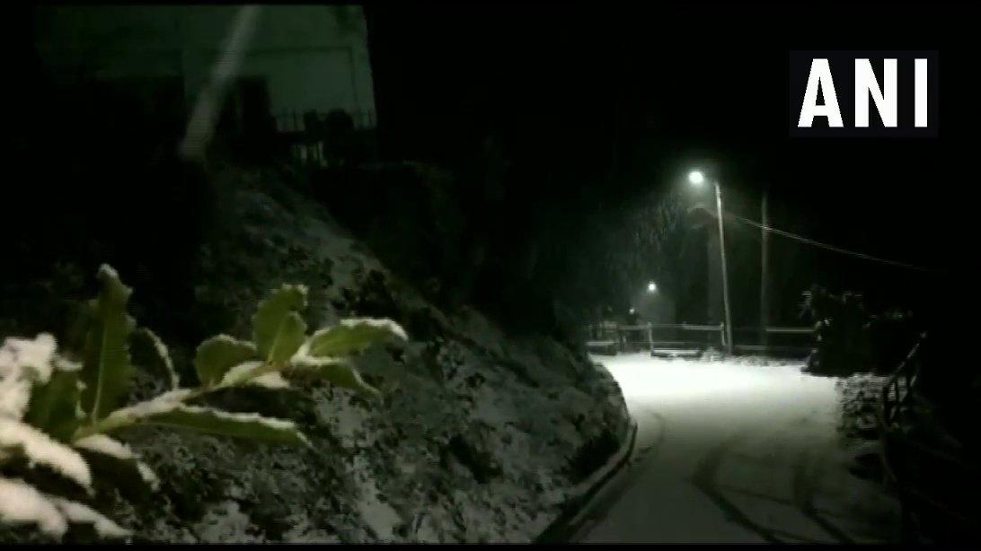 Himachal Pradesh: Visuals of fresh snowfall from Shimla.