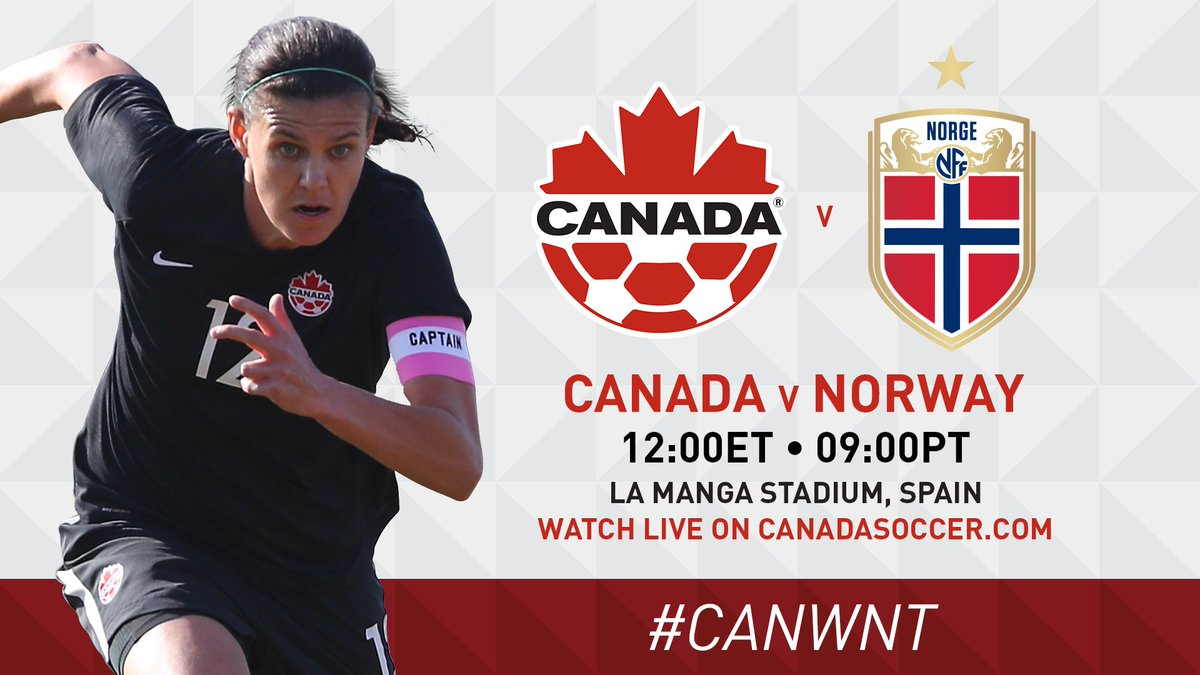 Tomorrow, watch #CANWNT face Norway in an International Friendly that will kick off their all-important 2019 season! The match will be streamed live on CanadaSoccer.com at 12.00 ET / 9.00 PT! #Arrived #CANvNOR