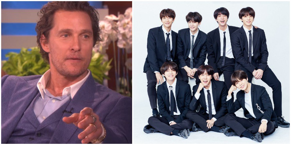 Matthew McConaughey talks about his son's love for #BTS + having fun at their concert https://t.co/bSv0skvC2t
