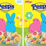 Image for the Tweet beginning: Peeps Cereal Is the Ultimate