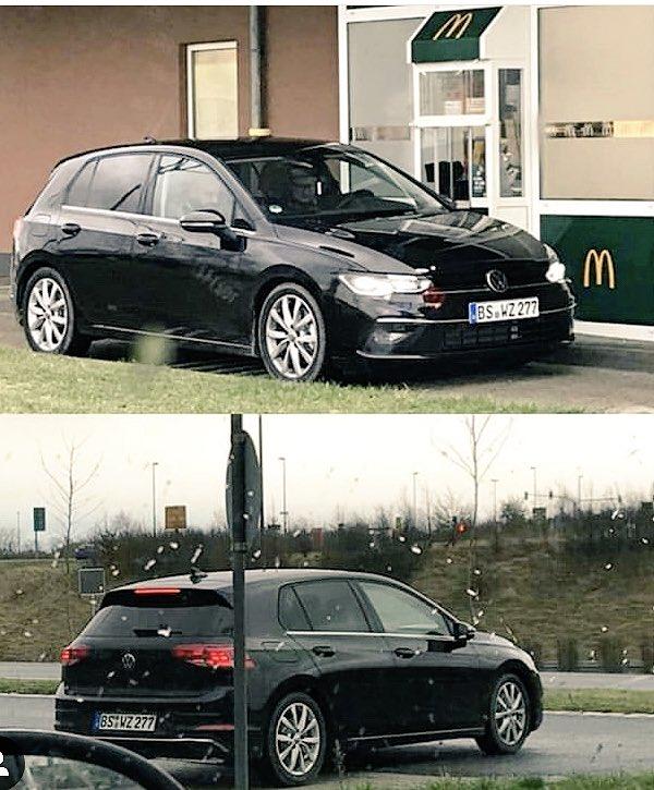 Une voiture de type #Golf8 aperçue dans la file d'un mcdo en #allemagne via johanes.vag instagram