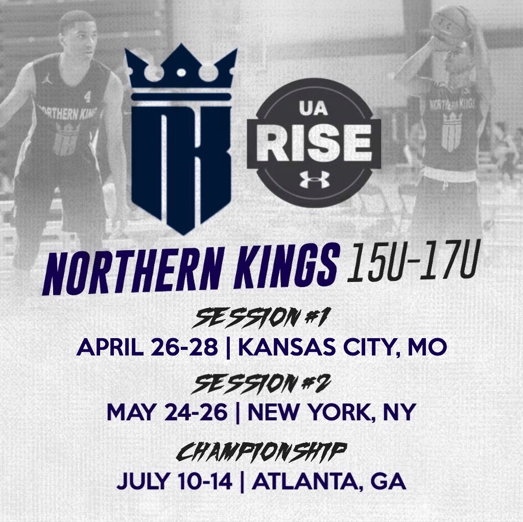 Our 15u-17u teams will participate in the UA Rise Circuit, featuring stops in Kansas City, New York & Atlanta! High level teams, excellent facilities, and elite level exposure! #KingsOfTheNorth #ScholarshipSeason