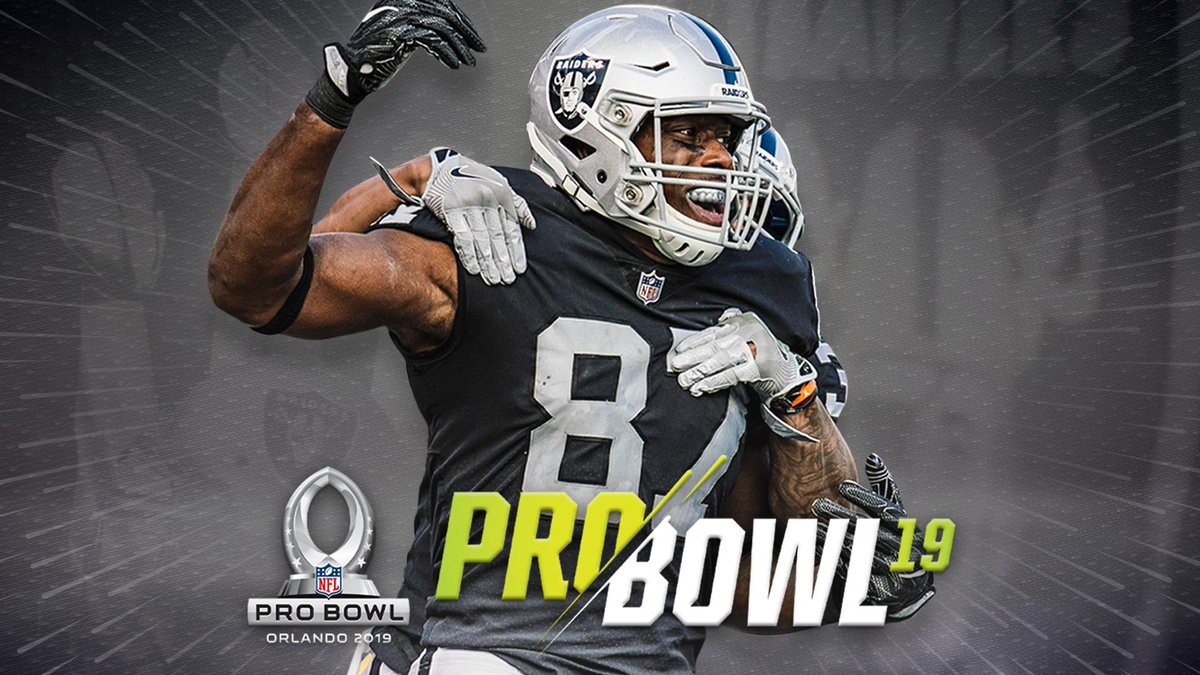 Jared Cook has been named to AFC Pro Bowl Team.  More: https://t.co/NhN6RjLhJW