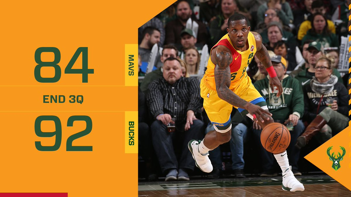 The Bucks scored 35 points in the third quarter!!  Who's gonna win it?!?  #FearTheDeer