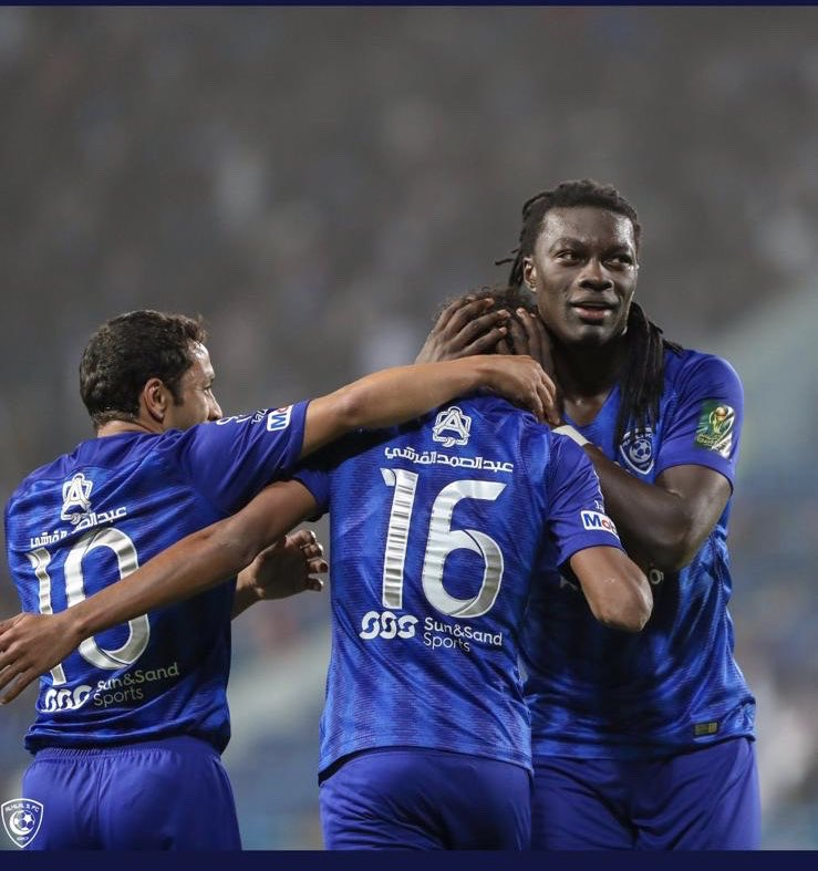 Great and not so easy win. Our tonight's victory is definitly linked to tactical choices made by our Coach 💪🏿. Big Thanks  to hillalis support! Always behind us!!!!  The cup continue for AL HILAL Let's focus on the next game 💙🐾