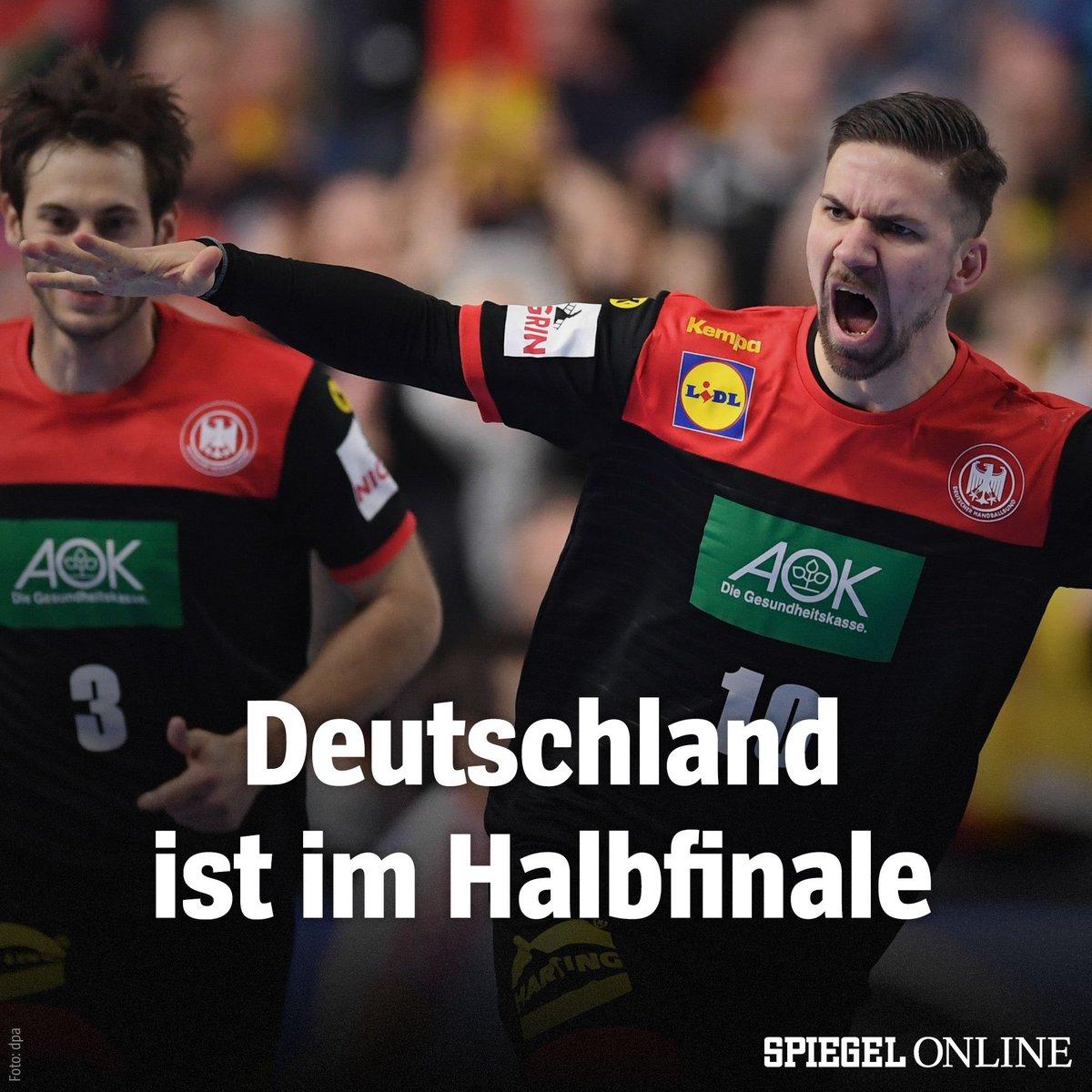 Die deutschen Handballer besiegten Kroatien mit 22:21 und qualifizieren sich damit vorzeitig für das Halbfinale. #CROGER #Handball19 https://t.co/r8xwrSRKC7
