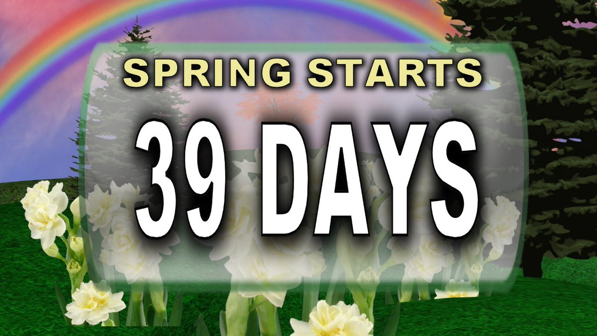 Think warm thoughts... Meteorological Spring is March 1, just 39 days away.  #iawx