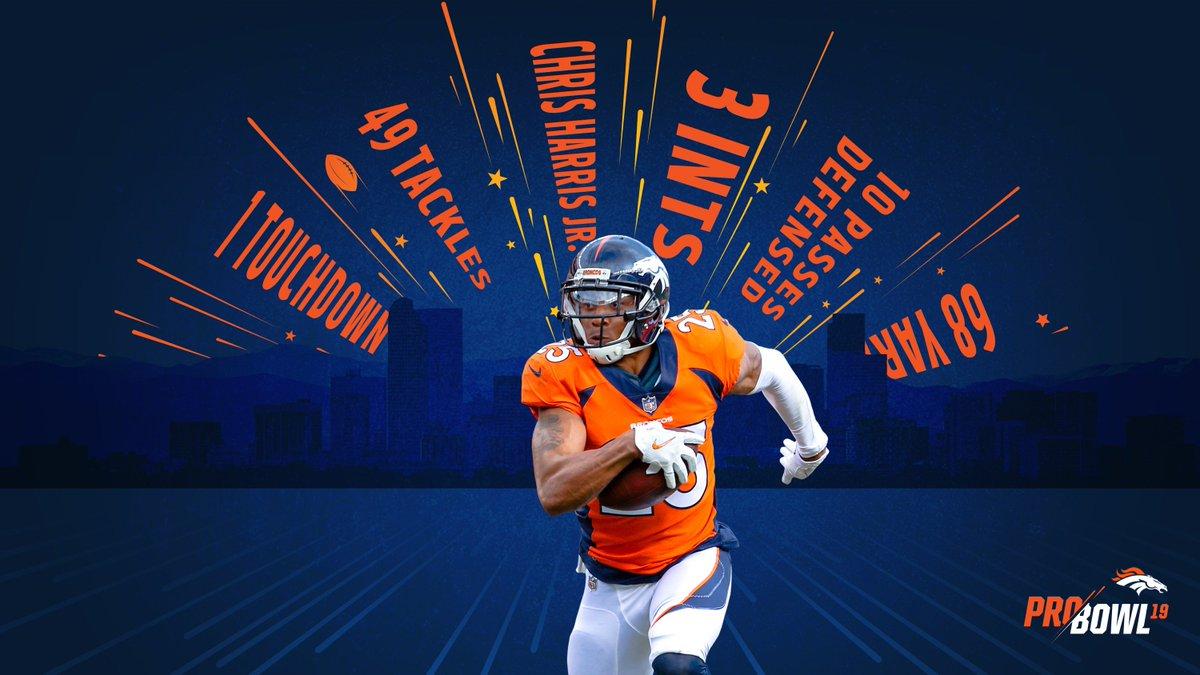 best sneakers db406 7550d chris harris pro bowl jersey Denver Broncos ...