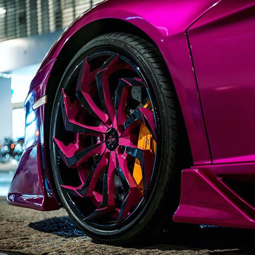Purple Lamborghini Lurkin New Forged Styles Dropping Tweet