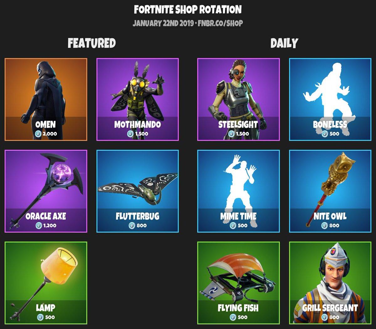 fortnite item shop for january 22nd 2019 https fnbr co - fortnite item shop fnbr