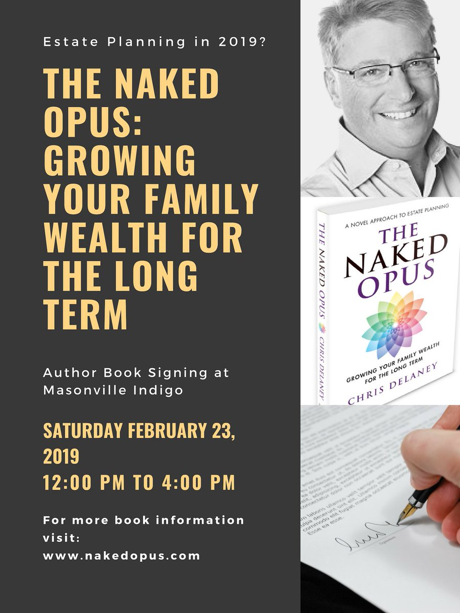 551a32a655004e Book signing in #LdnOnt on February 23, 2019 at Masonville Indigo  @chaptersnlondon @FEAdvisor @chaptersindigo #indigofaves  @estatemagpic.twitter.com/ ...