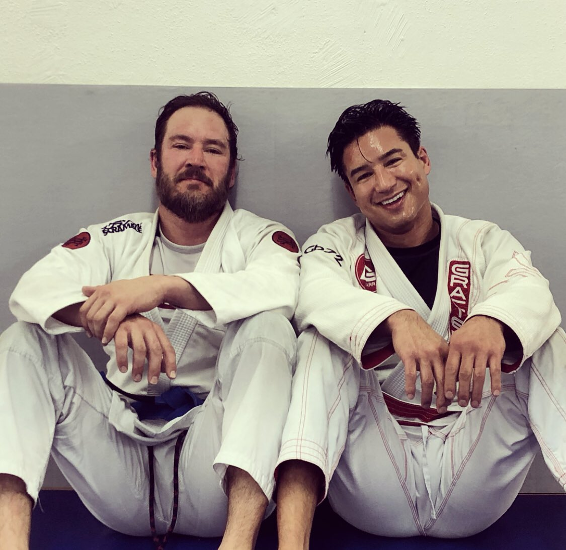 Great training with my boy @MPG! Beat each other up for an hour and a half...   #Jiujitsu  #BJJ  #OldSchoolHomies